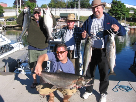 Lake Ontario Area Charter Photos with TSI Charters - Lake Ontario Salmon Fishing - The Group Shot!
