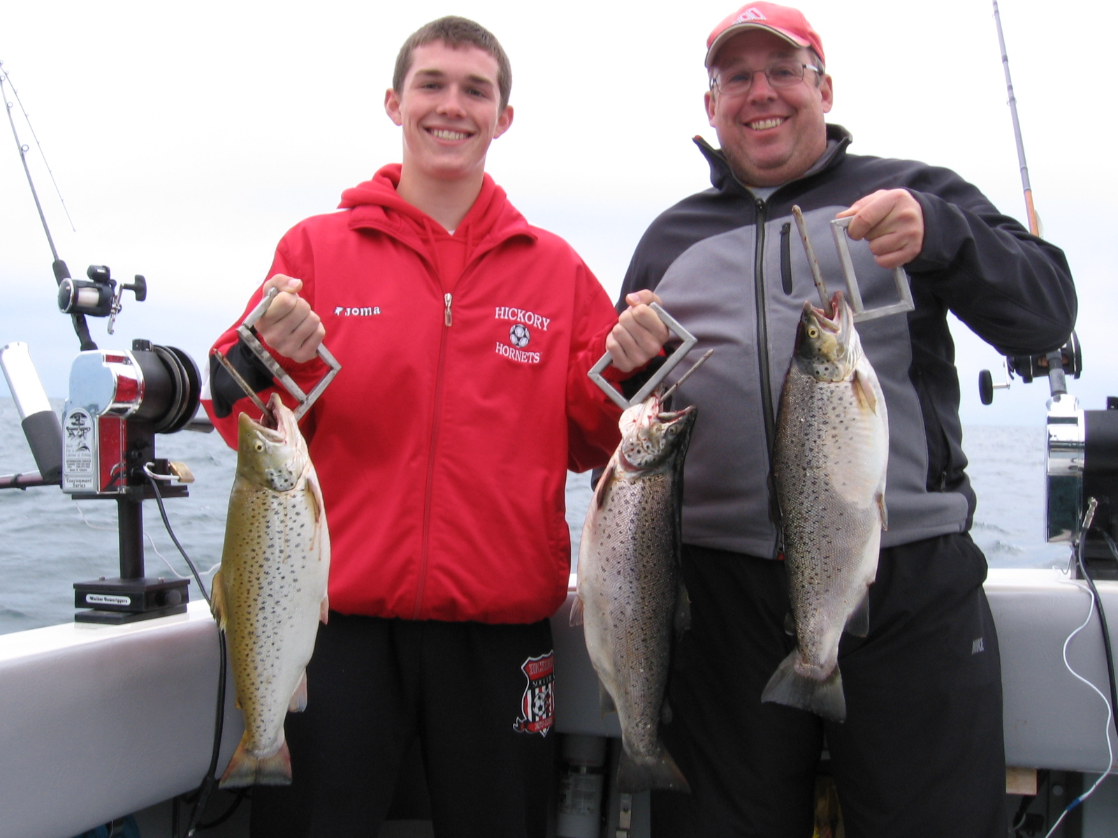 Lake Ontario Area Charter Photos with TSI Charters - Gary and Kevin with a few nice Lake Ontario Brown Trout